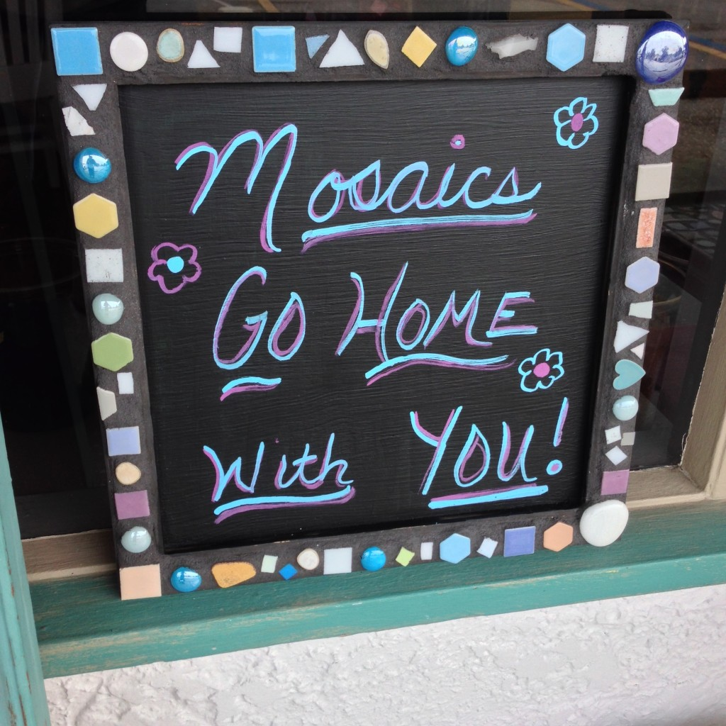 Mosaics go home with you