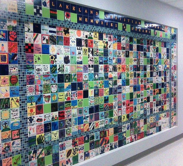Consider a tile wall fundraiser