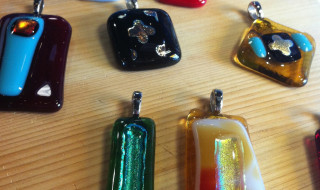 fused glass pendants with bail