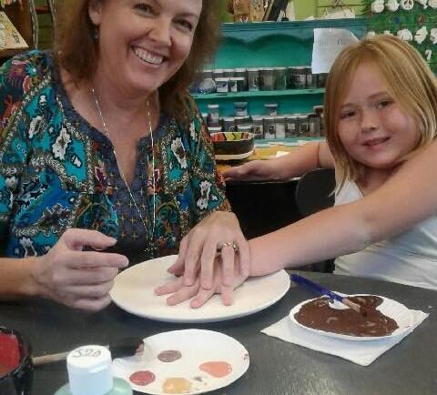 Melanie handprint fun